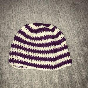 Accessories - Striped winter beanie hat